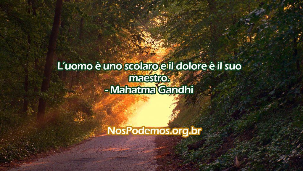 L'uomo è uno scolaro e il dolore è il suo maestro.- Mahatma Gandhi
