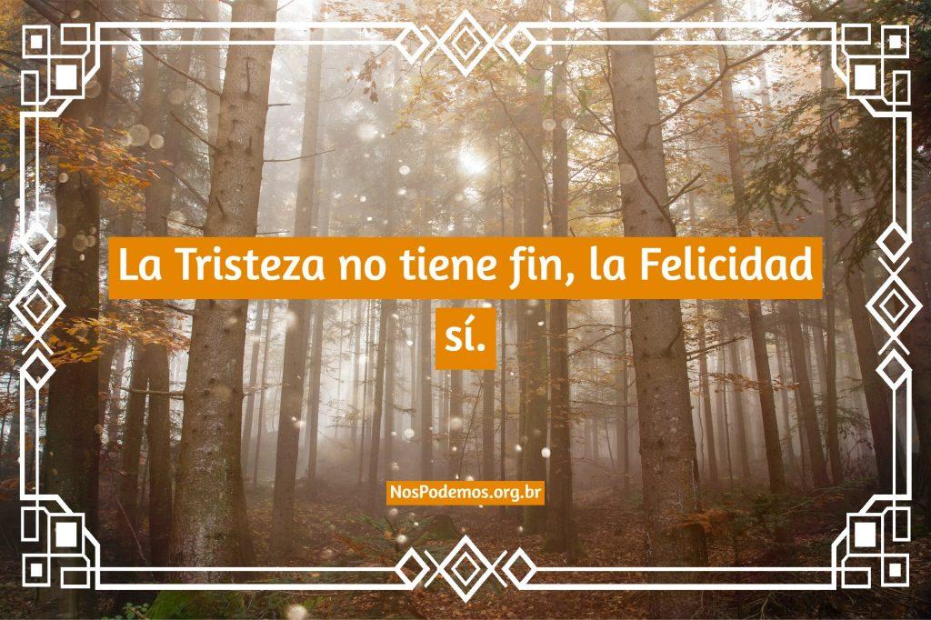 La Tristeza no tiene fin, la Felicidad sí.
