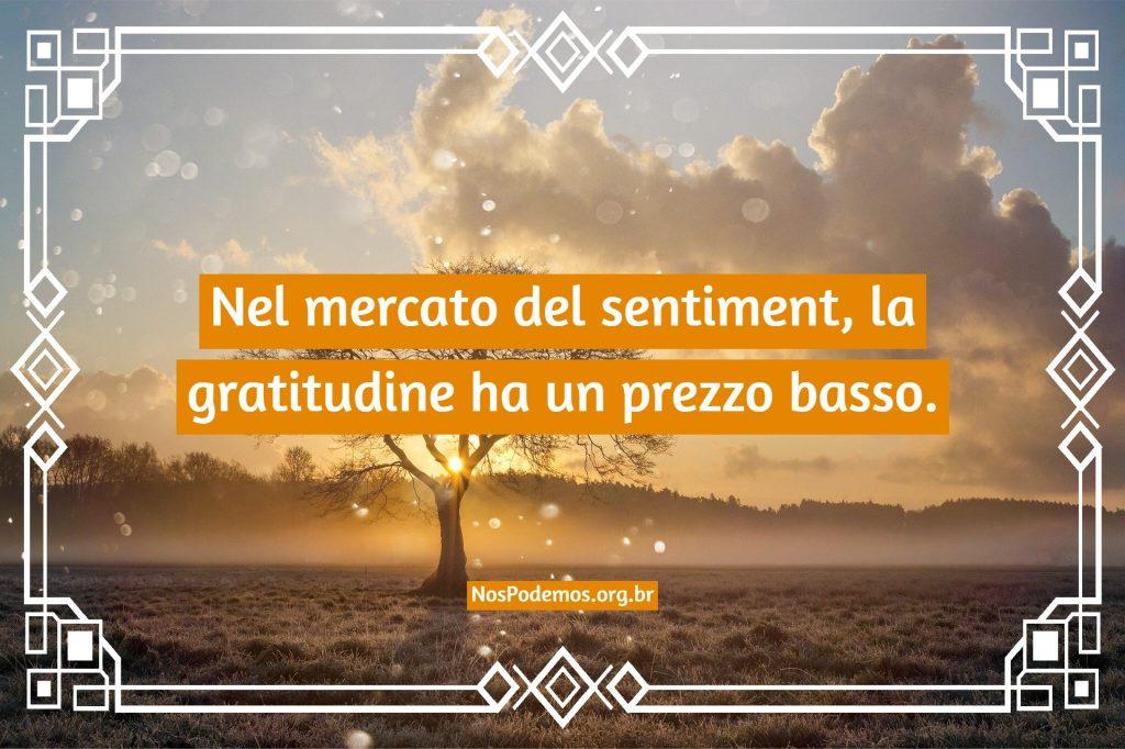 Nel mercato del sentiment, la gratitudine ha un prezzo basso.